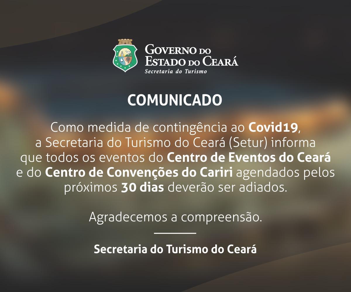 Comunicado – Secretaria do Turismo do Ceará