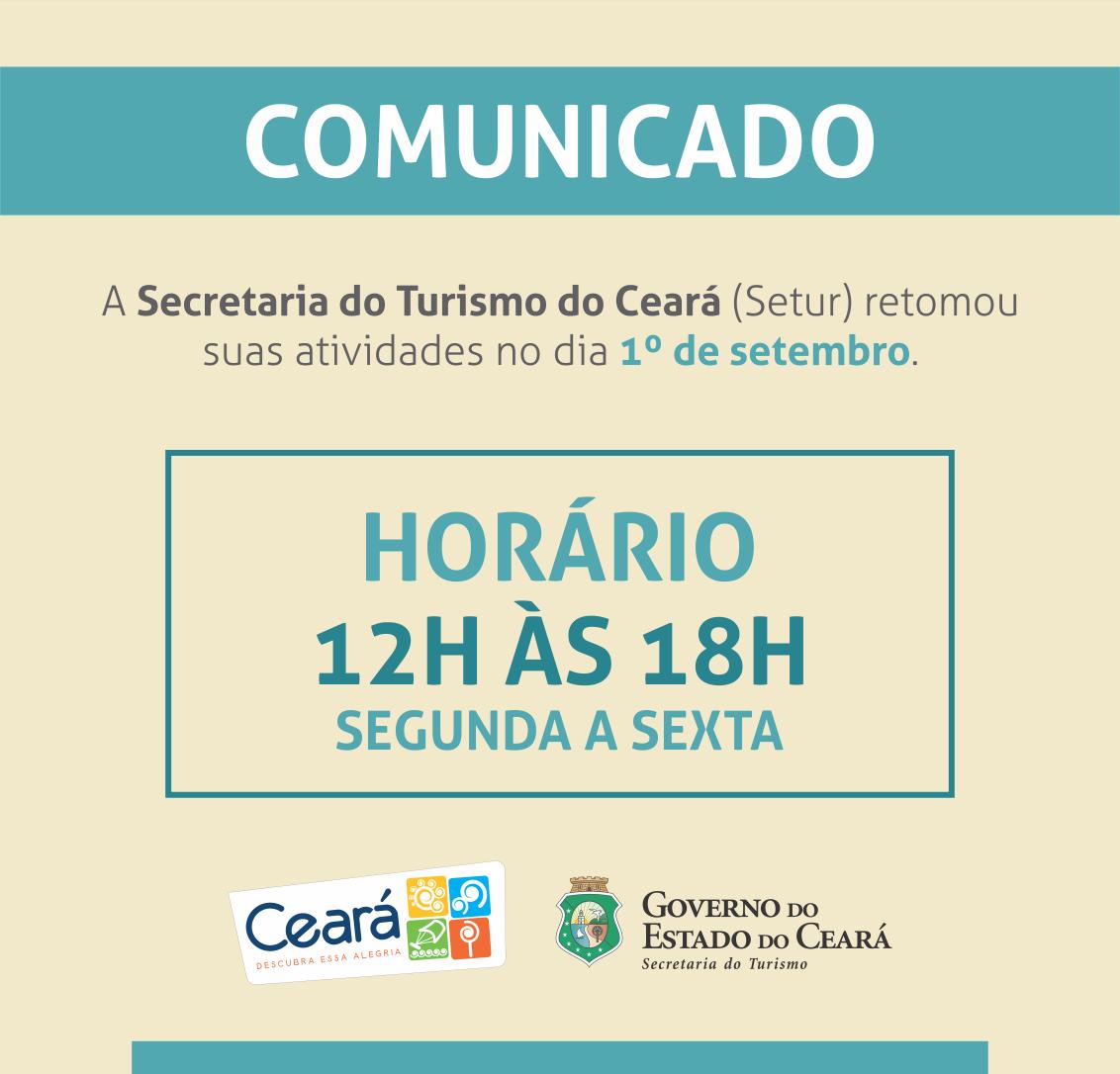 Comunicado – Secretaria do Turismo do Ceara
