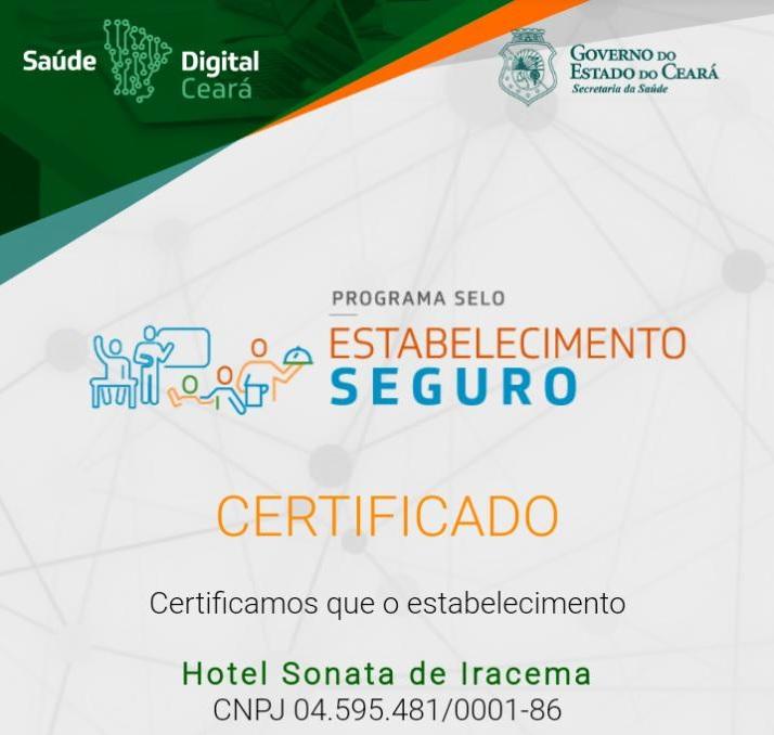 Hotel Sonata é o primeiro do Ceará a conquistar o Selo Lazer Seguro