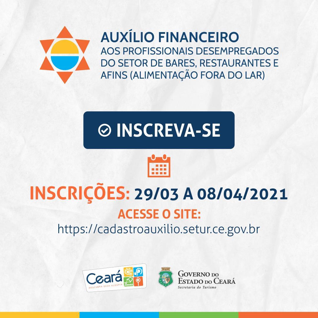Governo do Ceará abre cadastro para solicitação de auxílio financeiro aos profissionais do Setor de Bares e Restaurantes nesta segunda-feira (29)